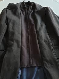 m s mens collezione long coat brown large