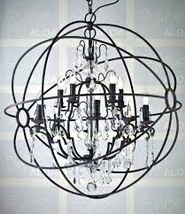 orb crystal chandelier in chandeliers from lights lighting on silver orb crystal chandelier