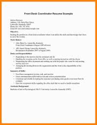 Hotel Front Desk Resume Examples Best Of 24 Front Office Resume Reptile Shop Birmingham