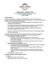 Database Analyst Job Description Data Analyst Job Description 0919 Cause Effect Strategy And