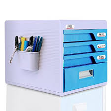 home office file storage. locking drawer cabinet desk organizer - home office desktop file storage box w/ 4 lock