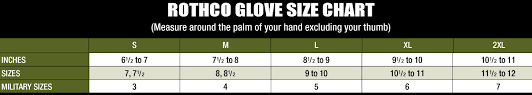 Military Size Chart Logical Military Glove Size Chart 2019