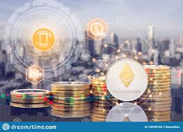 Ethereum Eth And Cryptocurrency Trading Concept Stock Photo