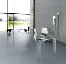 modern glass desk desks for home office intended remodel 3