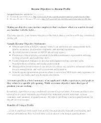 Resume Profile Example Resume Profile Samples Resume Opening