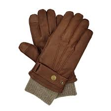 men s cashmere lined deerskin gloves brown