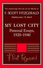 my lost city personal essays by f scott fitzgerald 406653