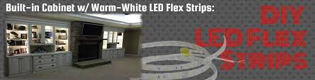 how to light shelves with led strips