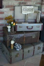 Vintage Suitcases for a Steam Punk wedding at Old Thorns Liphook! Steam  Punk Wedding Flowers