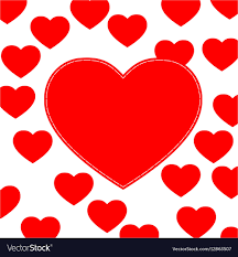 cute love hearts background vector image
