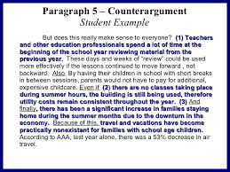 persuasive essay sample  11 paragraph 5 counterargument student example