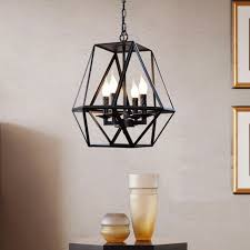large industrial pendant light chandelier ceiling lamp iron cage hanging fixture