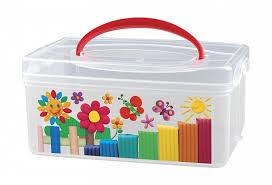 <b>Коробка универсальная</b> с ручкой и декором 245×160×108 мм