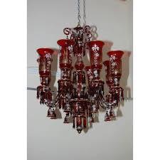maroon glass crystal chandelier