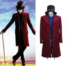 Charlie Und Die Schokolade Fabrik Willy Wonka Kostüm Johnny Depp Cosplay  Outfit Mantel Kostüme|Anime Costumes