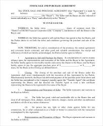 Purchase Agreement Samples Share And Purchase Agreement 11 Stock Purchase Agreement Form