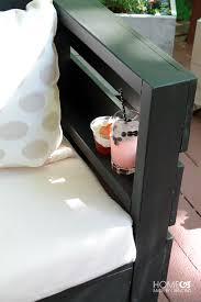 diy outdoor furniture add a shelf inside the armrest for drinks