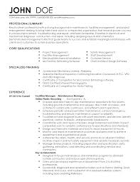 professional facilities manager templates to showcase your talent resume templates facilities manager