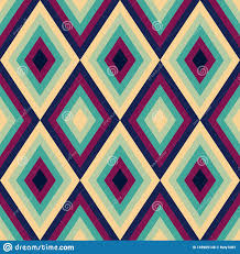 Repeats In Textile Designing Retro Seamless Surface Pattern Retro Rhombus Repeat Pattern