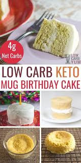 This cake uses some intriguing healthy alternatives like tahini, dates, nut milk and bananas. Keto Birthday Cake Gluten Free Mug Cake In Minutes Low Carb Yum