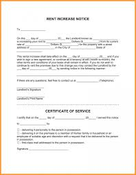 how to write a rent increase notice rent increase notice form rental letter rentotice 791 format mail