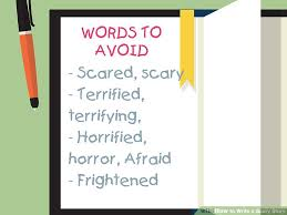 how to write a scary story examples wikihow image titled write a scary story step 16