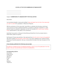 Cover Letter Examples Submit Paper Adriangatton Com