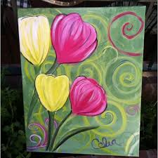 how to paint an easy acrylic painting for beginners an easy step by step tutorial on