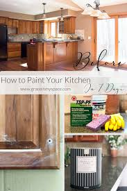 Paint Your Kitchen Cabinets In 7 Days Paint Steps Grace In My Space