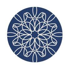 impressive round rug blue district17 ribbon in and white oval rugs