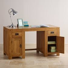 Computer Table:Solid Oak Computer Desk Awful Images Inspirations Quercus  Rustic Furniture Land 52 Awful