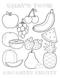 Coloring Pages Of Fruits And Vegetables For Kids Fruits And ...