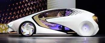 toyota unveils concept i an autonomous lifestyle car for the on the outside the fun lighting is both functional and stylish on the side of the vehicle lighting accentuates the front and rear wheels