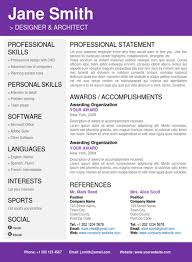 creative resume template word resume on word