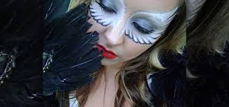 how to create a bright white angel wings eye mask for fallen angel makeup