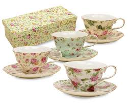 amazoncom gracie china rose chintz ounce porcelain tea cup and