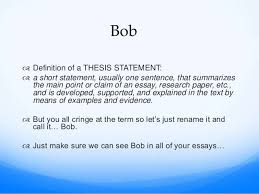 bob the thesis statement compare and contrast essay 4
