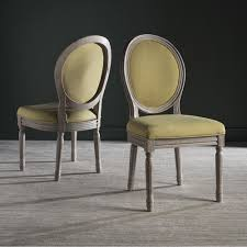 safavieh old world dining holloway spring green grey parisian oval side chairs set of