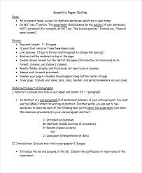 Paper Outline Templates 10 Paper Outline Templates Free Sample Example Format Download