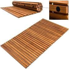 wooden bathroom mat wooden bath mat acacia wood non slip spa shower sauna slatted cm wooden wooden bathroom mat