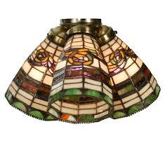 tiffany style ceiling fan light shades