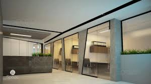 contemporary office interior. OFFICE INTERIOR DESIGN IN DUBAI. The Reception Is Made In A Contemporary Style With Glass As Partitions, Which Provide Zoning Office Interior