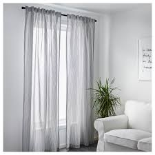 Curtains Gulsporre Curtains 1 Pair White Grey 145x250 Cm Ikea