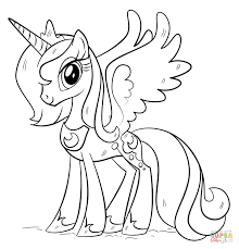 Princess Luna From My Little Pony Coloring Page My Little Pony
