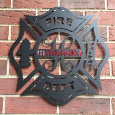 maltese cross firefighter firefighter gift firefighter decor fire fighter by hsa on maltese cross firefighter metal wall art with maltese cross firefighter firefighter gift firefighter decor
