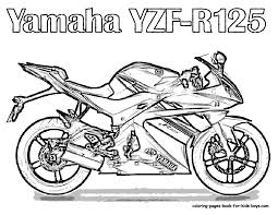 Motorcycle yzf r125 coloring page