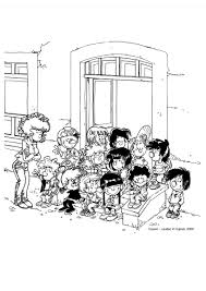 Coloriage Rentr E Des Classes Coloriages Pour Enfants