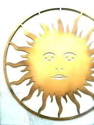 metal sun wall decor art ceramic and moon outdoor design ideas paintin