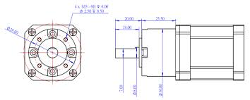Stepper Motor Size Chart 42byg Geared Stepper Motor Steam Projects Makeblock