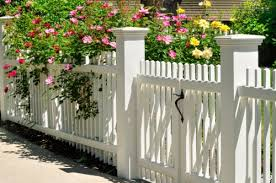 White fence ideas Fence Panels White Fence With Flowers Mr Handyman Fence Ideas Choosing The Perfect Fence Style To Match Your Home